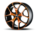 RH-ALURAD BZ AGRANO COLOR POLISHED-ORANGE Felgen