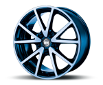 RH-ALURAD DE SPORTS COLOR POLISHED-BLUE Felgen