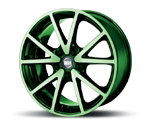 RH-ALURAD DE SPORTS COLOR POLISHED-GREEN Felgen