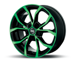 RH-ALURAD DF ENERGY COLOR POLISHED-GREEN Felgen