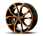 RH-ALURAD DF ENERGY COLOR POLISHED-ORANGE Felgen