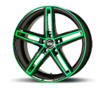 RH-ALURAD DG EVOLUTION COLOR POLISHED-GREEN Felgen