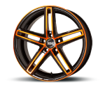 RH-ALURAD DG EVOLUTION COLOR POLISHED-ORANGE Felgen