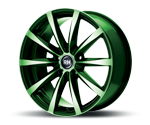 RH-ALURAD GT RAD COLOR POLISHED-GREEN Felgen