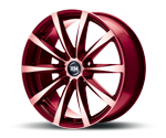RH-ALURAD GT RAD COLOR POLISHED-RED Felgen