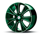 RH-ALURAD NAJ II COLOR POLISHED-GREEN Felgen