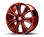 RH-ALURAD NAJ II COLOR POLISHED-RED