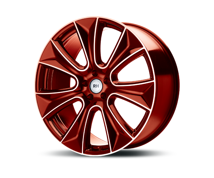 RH-ALURAD NAJ II COLOR POLISHED-RED Felgen