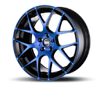 RH-ALURAD NBU RACE COLOR POLISHED-BLUE Felgen