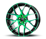 RH-ALURAD NBU RACE COLOR POLISHED-GREEN Felgen