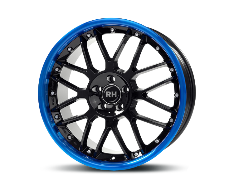 RH-ALURAD NF CROSSLINE BLACK-RIM COLOR POLISHED-BLUE Felgen