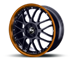 RH-ALURAD NF CROSSLINE BLACK-RIM COLOR POLISHED-ORANGE Felgen