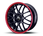 RH-ALURAD NF CROSSLINE BLACK-RIM COLOR POLISHED-RED Felgen