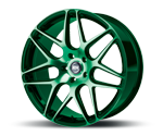 RH-ALURAD RB11 COLOR POLISHED-GREEN Felgen