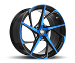 RH-ALURAD RB12 COLOR POLISHED-BLUE Felgen