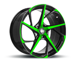RH-ALURAD RB12 COLOR POLISHED-GREEN Felgen
