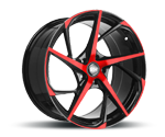 RH-ALURAD RB12 COLOR POLISHED-RED Felgen