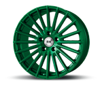 RH-ALURAD WM RAD COLOR POLISHED-GREEN Felgen