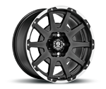 SPARCO DAKAR MATT BLACK LIP POLISHED & RIVETS Felgen
