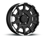 SPARCO DAKAR MATT BLACK LIP POLISHED Felgen