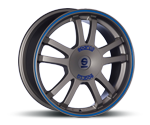 SPARCO RALLY MATT SILVER TECH & BLAUER RAND