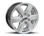 TEAM-DYNAMICS RIMFIRE HDX6 HI-POWER-SILVER Felgen