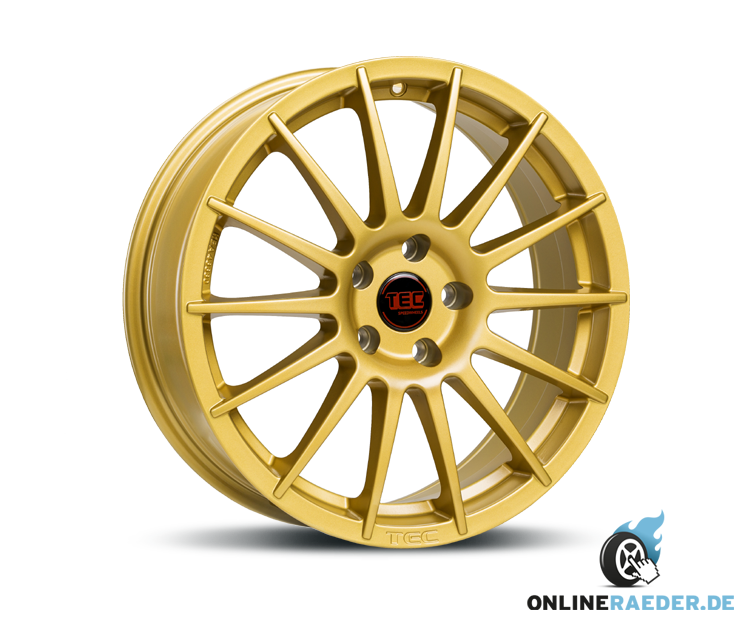 alufelge für seat ibiza 6j (lk 5 x 100) mit tec-speedwheels as2 gold