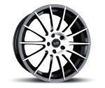 TEC-SPEEDWHEELS AS2 SCHWARZ POLIERT Felgen