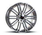 TEC-SPEEDWHEELS AS3 DUNKEL GRAU POLIERT Felgen