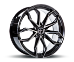 TOMASON TN22 DARK HYPERBLACK POLISHED Felgen