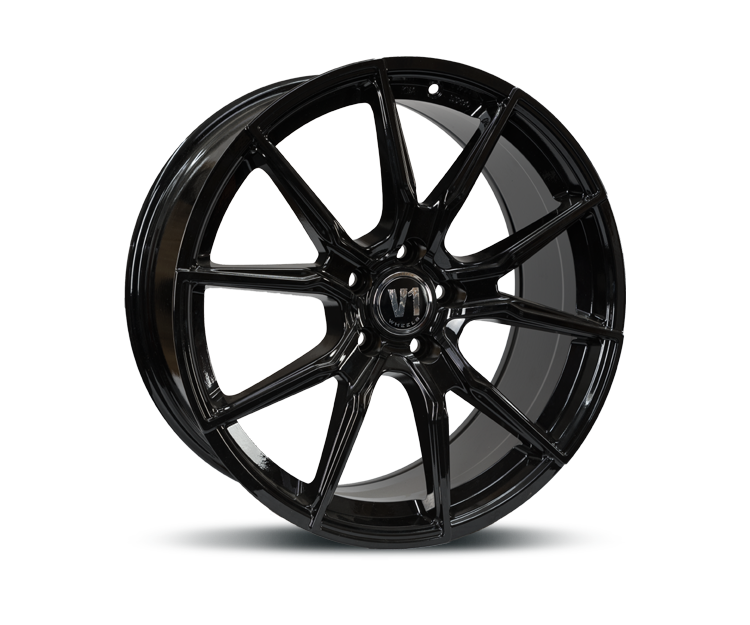V1-WHEELS V1 BLACK GLOSSY PAINTED Felgen