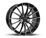 V1-WHEELS V2 BLACK FULL MACHINED Felgen