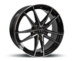 V1-WHEELS V3 BLACK FULL MACHINED Felgen