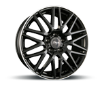 Z-DESIGN-WHEELS Z001 BLACK LIP POLISHED
